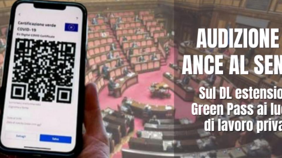 audizione ance green pass